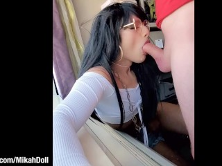 Daddy's First time getting a oral sex from a SISSY CROSSDRESSER on Grindr ;)