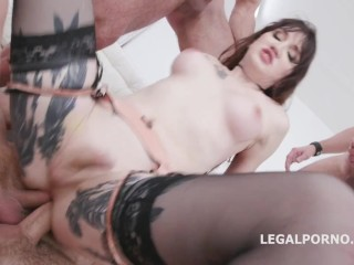 Lena Kelly Triple Anal and Double anal Penetration in a 5 on 1 Gangbang