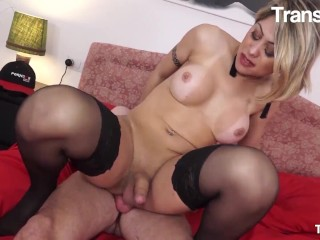 Trans Bella - Lucky dude Cant Get Enough Of t-girl GFs enormous Juicy behind