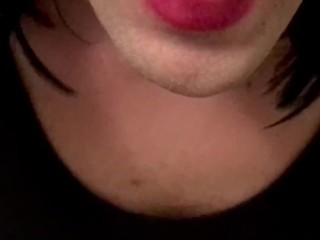 Sissy trap crossdresser daddy cums in mouth and swallow sissybritneylane