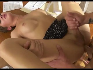 Super attractive shemale mounts lover anal