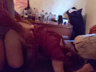 pretty Trans redhead takes a pounding from Tall Italian dude. and loves it