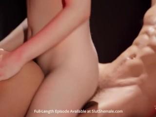 sweet ts gigantic dick mounts lover booty Hard