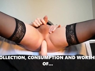 tgirl cum compilation 3 humongous cock shemale