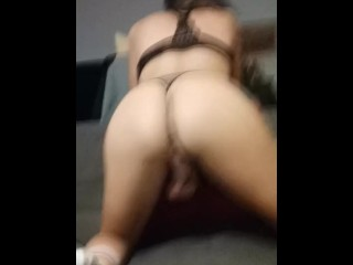 charming sissy having fun with roommate's big schlong