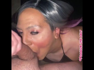 SPARKLE SKULL fucked BY massive WHITE cock