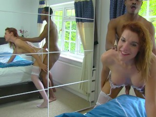 Hot transexual girl gets pounded by a BBC and gets creampied