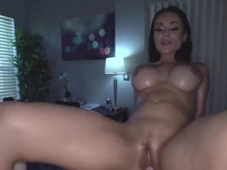 sexual busty russian crystal rush gets oil massage