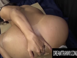 Luscious Trans Prison Officer Drika Lima jizzes butt Bars