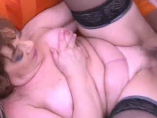 old woman & stepson try sex
