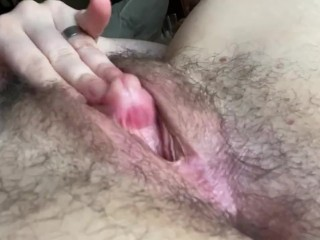 Fuck my pussy with my own FtM schlong