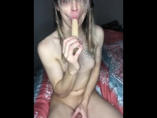 Trans broad plays with her broad meat