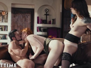 ADULT TIME Transfixed - Lauren Phillips and Dante Colle Explore Their Trans Urges with Casey Kisses