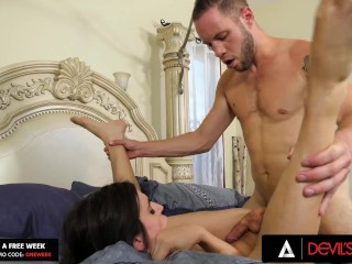 DevilsTGirls Trans Korra Del Rio Gets pounded Doggystyle All Day By Horny boy