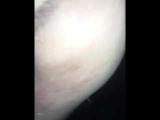 My faggot butt covered in cum after 4 males creampie my snatch