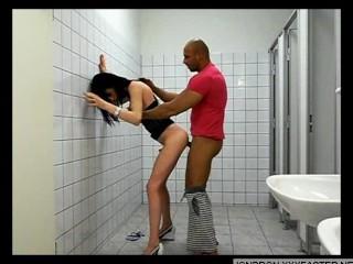 Amateur transsexual Fucking Public Toilet