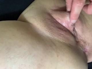Freshly shaven tight wet cunt