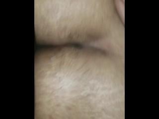 Latin t-girl mounts large ass bottom