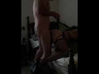 Hot quickie before work with fine construction worker