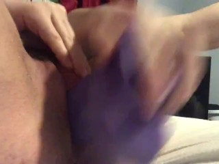 trans dude fucks hard w dildo (INTENSE ORGASM)
